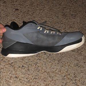 Mens black and grey Jordan's sneaker